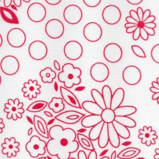 Polycotton: Colouring book: Red: per metre
