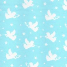 Polycotton: Angels: Blue: per metre