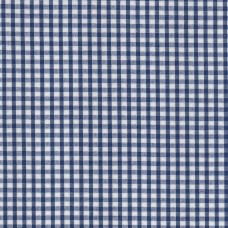 Polycotton: Gingham: Blue: per metre