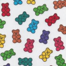 Polycotton: Colourful Bears: per metre