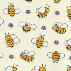 Polycotton: Busy Bees: per metre
