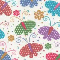 Polycotton: Butterflies: per metre