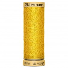 Gütermann: Natural Cotton Thread: 100m: Banana Yellow: 588