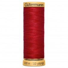 Gütermann: Natural Cotton Thread: 100m: Red: 2074