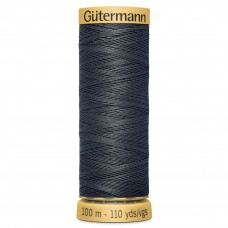 Gütermann: Natural Cotton Thread: 100m: Charcoal: 4403