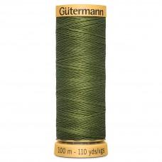Gütermann: Natural Cotton Thread: 100m: Grass Green: 9924