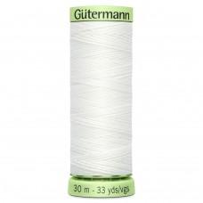 Gütermann: Top Stitch Thread: 30m: White: 800