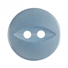 Button: Fish Eye: Baby Blue: 13.75mm: Pack 8