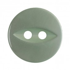 Button: Fish Eye: Baby Green: 13.75mm: Pack 8