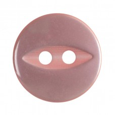 Button: Fish Eye: Baby Pink: 13.75mm: Pack 8