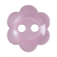 Button: Flower: Baby Pink: 11.25mm: Pack 17