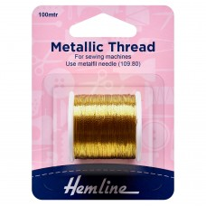 Metallic Thread: 100m: Gold