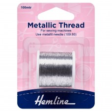 Metallic Thread: 100m: Silver