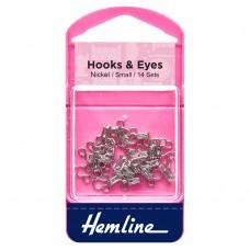 Hooks and Eyes: Nickel: Size 1