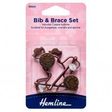 Bib and Brace Set: 40mm: Bronze: 2 Pieces