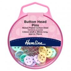 Pins: Button Head: 0.6 x 46mm: Assorted