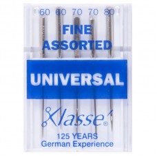 Sewing Machine Needles: Universal: Fine: Assorted: 5 Pieces
