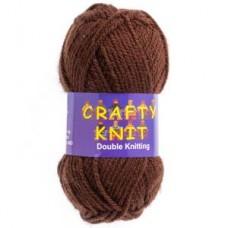 Crafty Knit DK 25g: Chocolate Brown