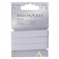 Elastic: 3m x 9mm: White