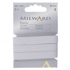 Elastic: 3m x 9mm: White