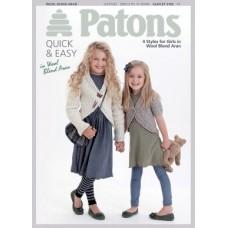 Patons Pattern Leaflet: Wool Blend Aran: Kids