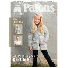 Patons Pattern Leaflet: Wool Blend Aran: Classics