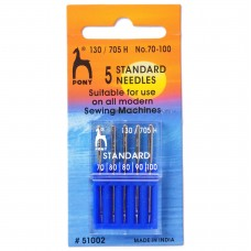 Sewing Machine Needles: Standard: Assorted Sizes