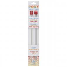Knitting Pins: Single-Ended: Aluminium: Children's: 18cm x 3.75mm