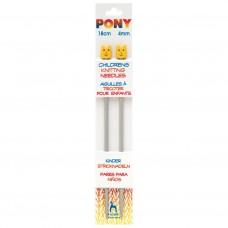Knitting Pins: Single-Ended: Aluminium: Children's: 18cm x 4.00mm