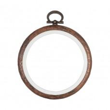 Hoop: Flexi: Round: 7.6cm/3in: Woodgrain