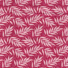 Tilda: Cottage: Berry Leaf: Red: Per metre