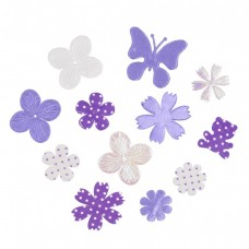 Craft Embellishments: Fabric Flower Mix: Purple