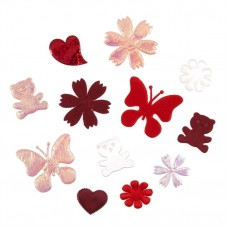 Craft Embellishments: Fabric Flower Mix: Red