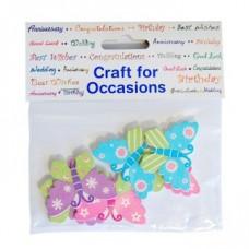 Craft Embellishments: Butterflies: Pack of 6