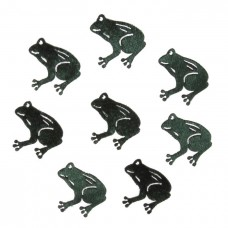 Craft Embellishments: Fabric Frogs: Pack of 8