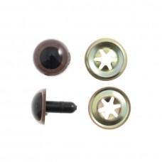 Toy Eyes: Teddy: 7.5mm: Brown: 8 Pack