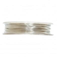Brass Wire: 5m x 0.5mm: Silver