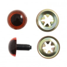 Toy Eyes: Teddy: 7.5mm: Amber: Pack of 8