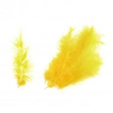 Feathers: Marabou: Yellow